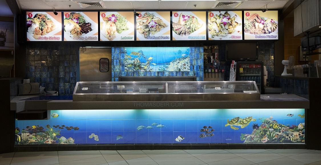 Tropical Fish Aquarium Tile Murals For Restaurant