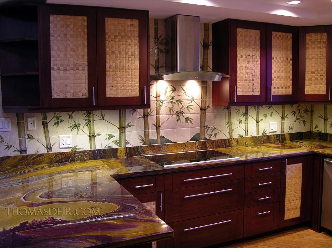 Asian Bamboo Tile Murals