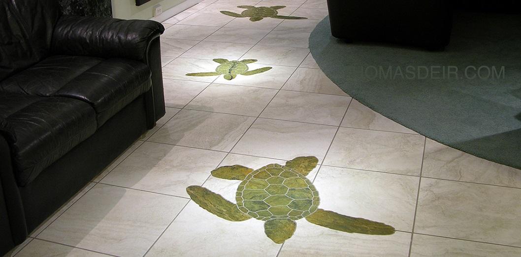 Turtle Floor Mosaic