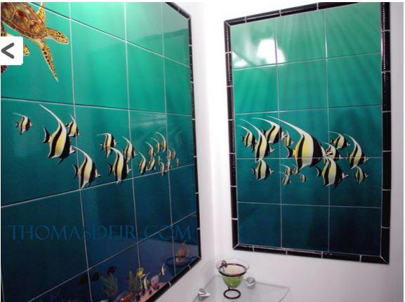 Bath Shower Tile Designs Tropical Fish Bathroom Remodel Ideas