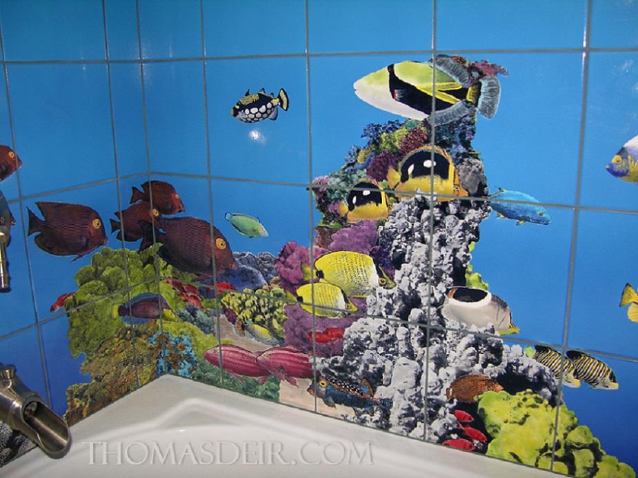 Birds Butterflies Geckos And Fish On Tile Thomas Deir Honolulu Hi