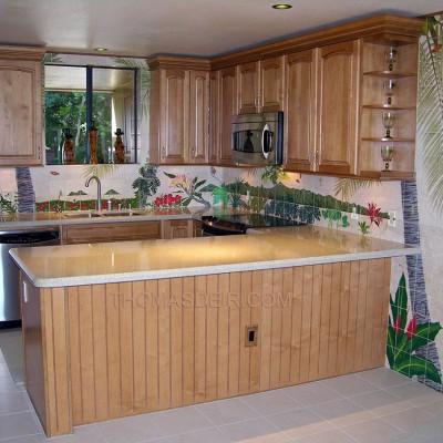 Hawaii Kitchen Design Tropical Tile Murals