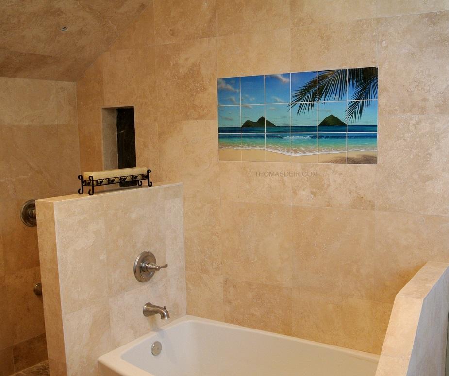 Paradise Rainbow Tile Reproduction Bathroom