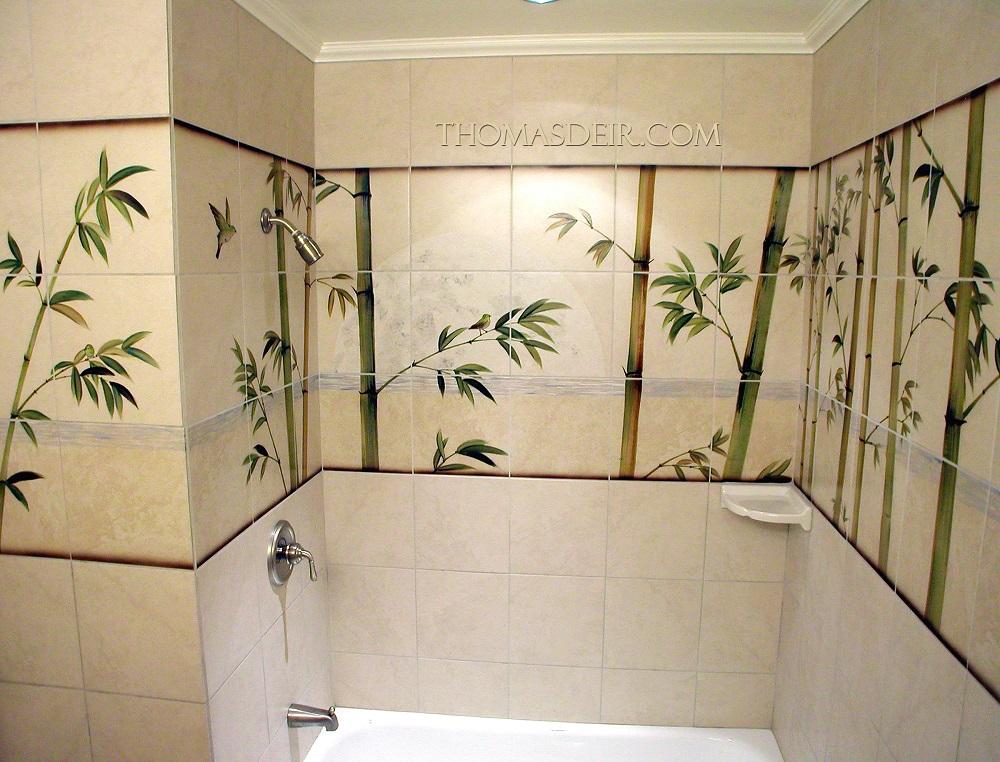 Bamboo tiles for bathroom