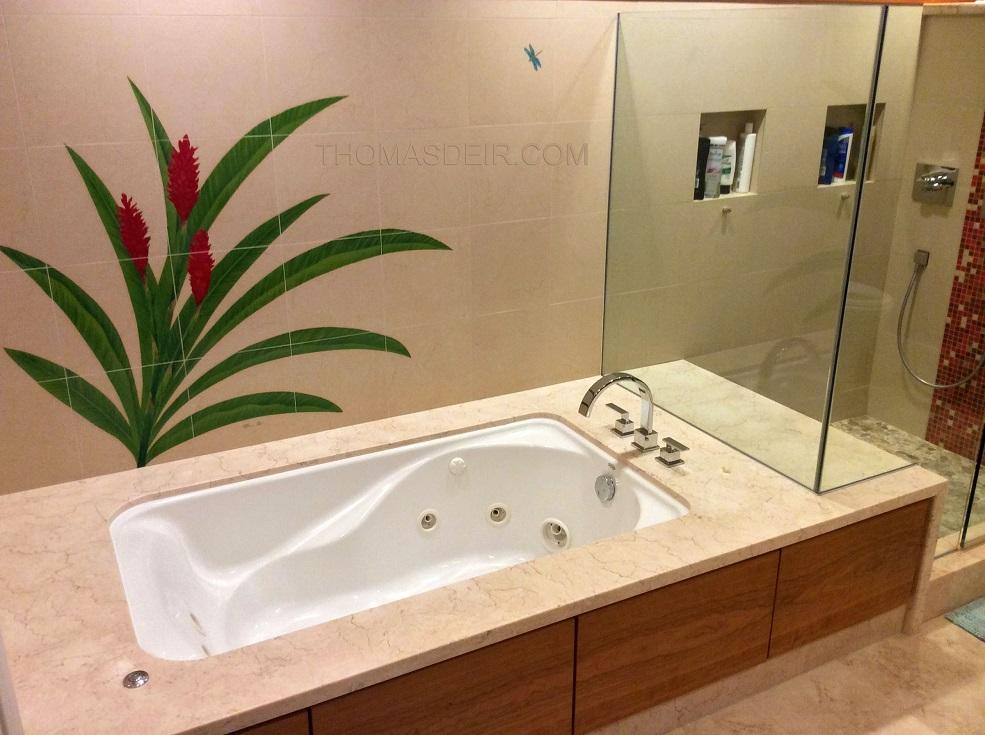Bathroom Tile Designs Red Ginger
