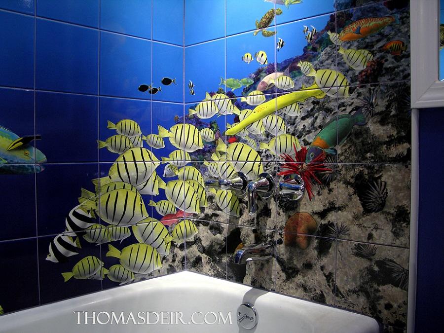 Bathroom Tile Murals Thomas Deir Honolulu Hi Artist