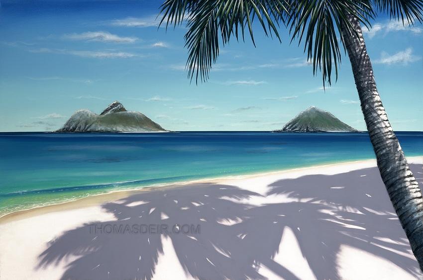 Tropical Beach Paintings Day Archive Thomas Deir
