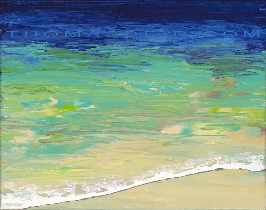 abstract beach paintings AO 15