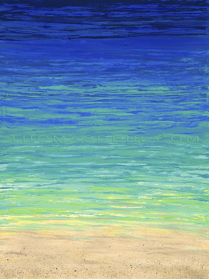 abstract beach paintings AO 29
