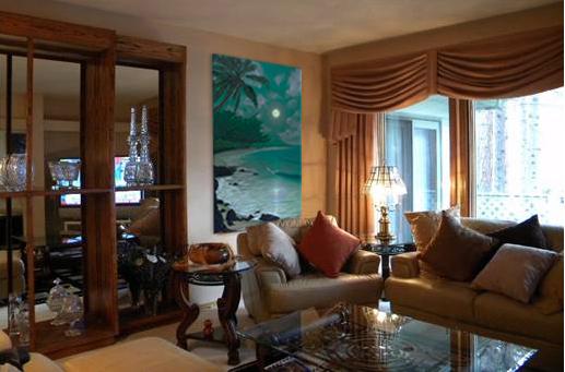 Paintings for Homes Tropical Beach Scene Ewa Moon