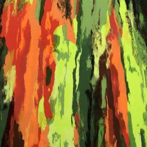 Eucalyptus Hawaii abstract painting